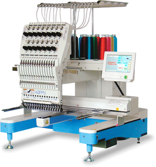 Happy HCD2 single head embroidery machine
